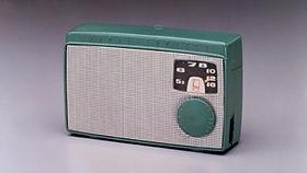 昭和30年発売 ソニーのラジオの写真