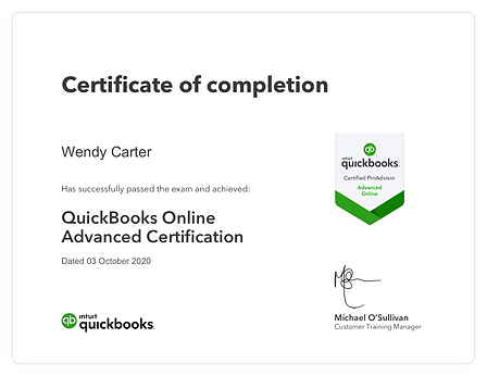 QuickBooksOnlineAdvancedCertification -