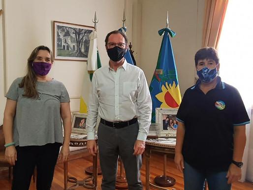 El Intendente recibió a Ada García y juntos, coordinaron acciones a futuro