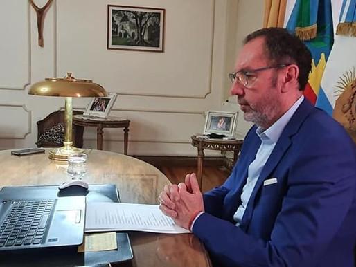 El Intendente participó de una videoconferencia con la Ministra Estela Díaz