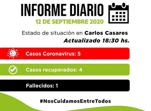 CORONAVIRUS - NUEVO CASO ASINTOMÁTICO