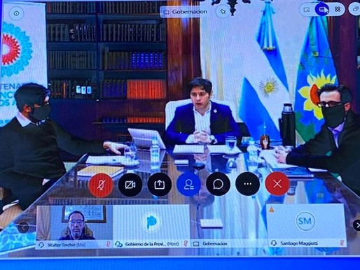 Por videoconferencia Torchio acompañó a Kicillof en la puesta en marcha del FIM