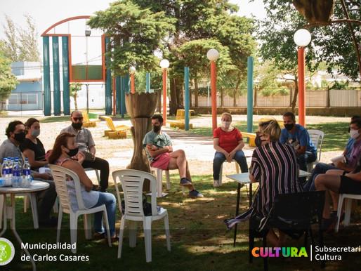 La Subsecretaria de Cultura se reunió con el equipo de Orquesta Escuela