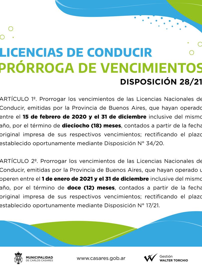LICENCIAS DE CONDUCIR_PRORROGA VENCIMIEN