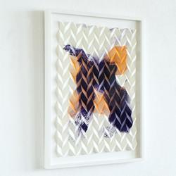 Folded Gesture 3G No8 (violett tangerine), Ansicht links
