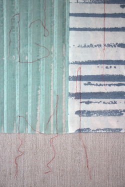 C. Maringer: Blau, entfaltet #4, Detail