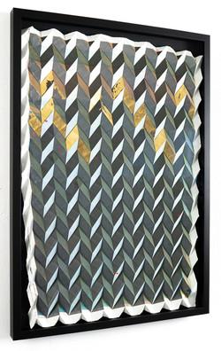 Michael Wegerer: Folded Figure No43 (24k Gold Glass), 2021