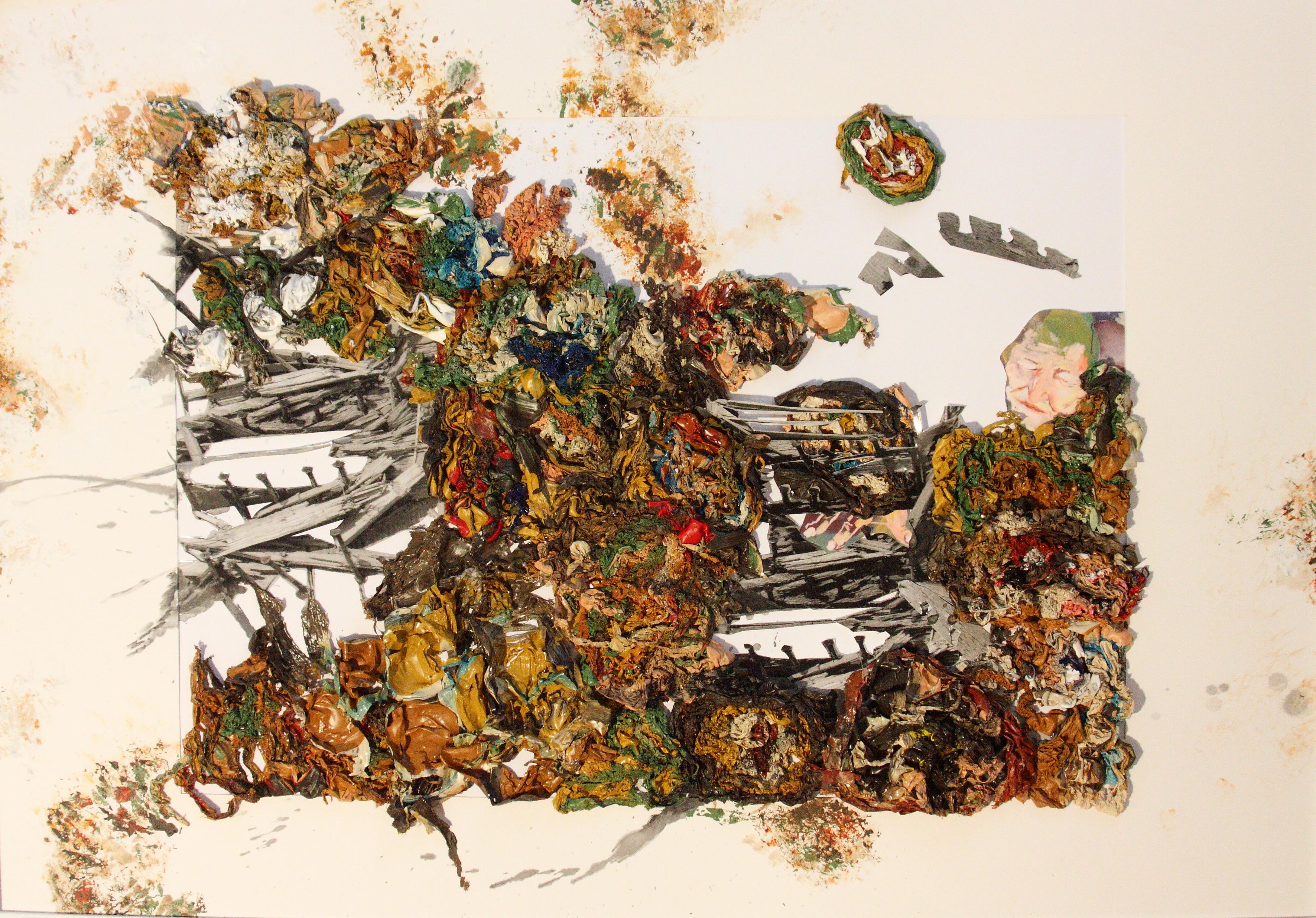 Ruth Brauner: lose genagelt, 2016