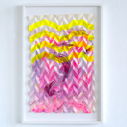 Folded Gesture 3G No5 (neon yellow pink), 2021