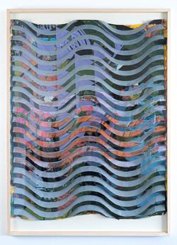 Michael Wegerer: Folded Figure No32 (Green Wave), 2021