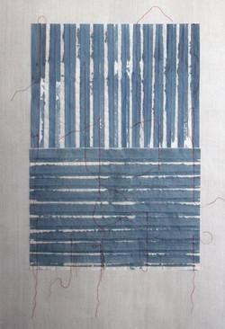 C. Maringer: Blau, entfaltet #5, Detail