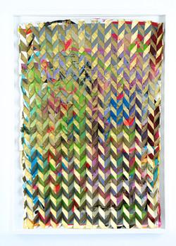 Michael Wegerer: Folded Figure No36 (Avantgarde Gold), 2021