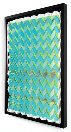 Michael Wegerer: Folded Figure No42 (Green Glass), 2021