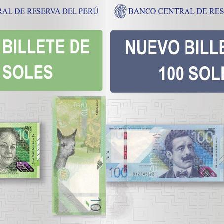 Nuevos billetes de S/.10 y S/.100