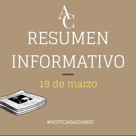 RESUMEN INFORMATIVO DEL VIERNES 19 DE MARZO 20121