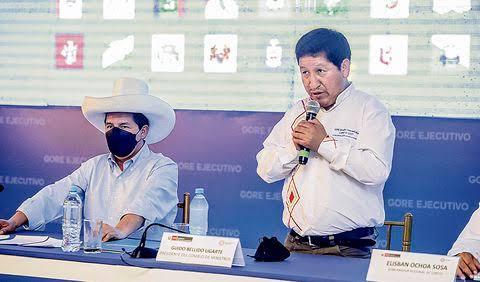 Bellido recomendó a Chirinos que cite al Congreso a la empresa del gas de Camisea