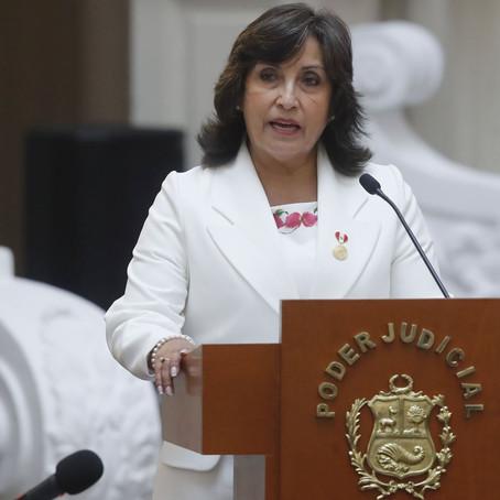 Dina Boluarte incluida en caso de lavado de activos