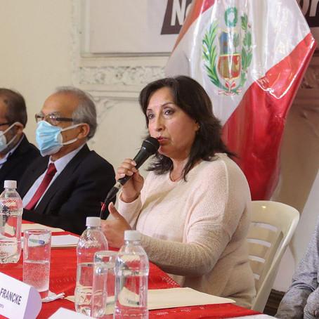 Vicepresidenta Boluarte buscará que presidente Castillo firme declaración de Chapultepec