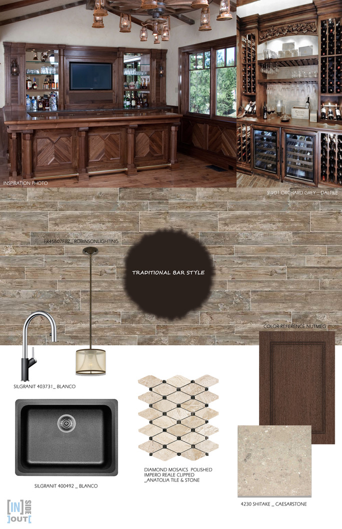 Mood board Traditional home bar