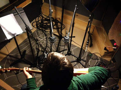Vide Geiger recording in the Beyond The Beat Studio in Toronto Canada
