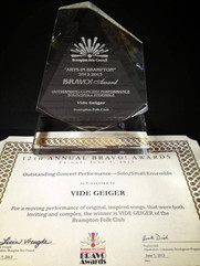 Award: Brampton Bravo Award to Vide Geiger