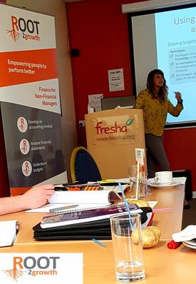 Rayanne delivering a workshop