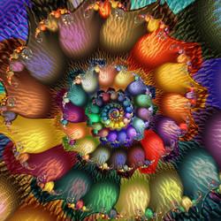 Fractal Textured Spiral