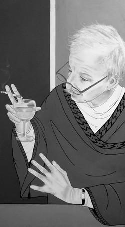 Paul van Den Hout, My Translator, Dressed as a Samurai