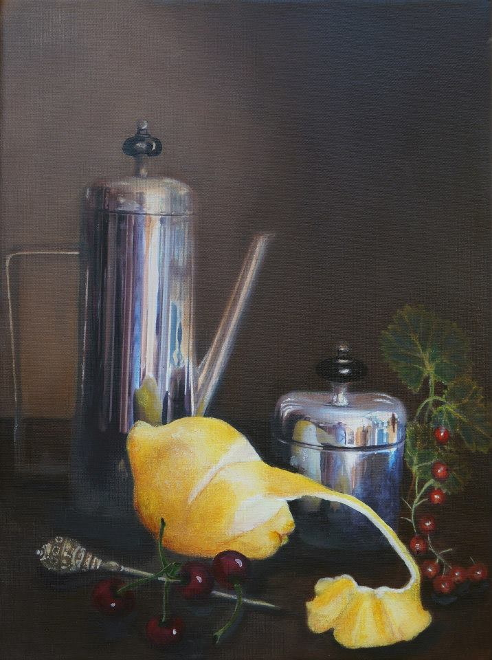 Coffee Pot and Lemon