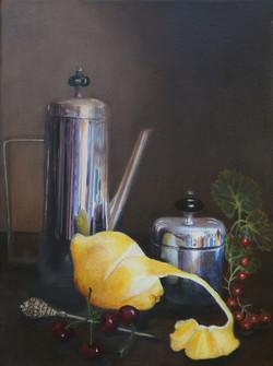 Coffee Pot and Lemon