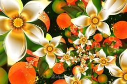 Fractal Orange Blossoms