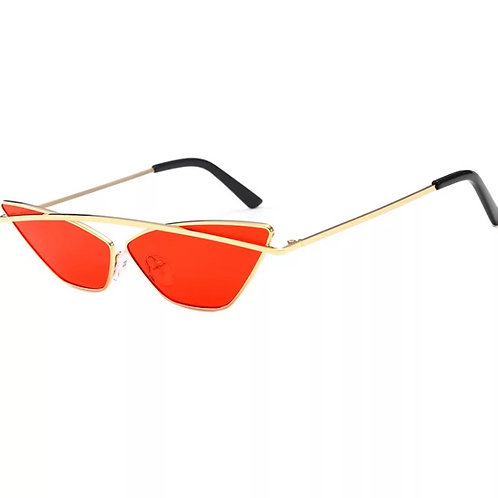 Red Cat Eyes Sunglasses