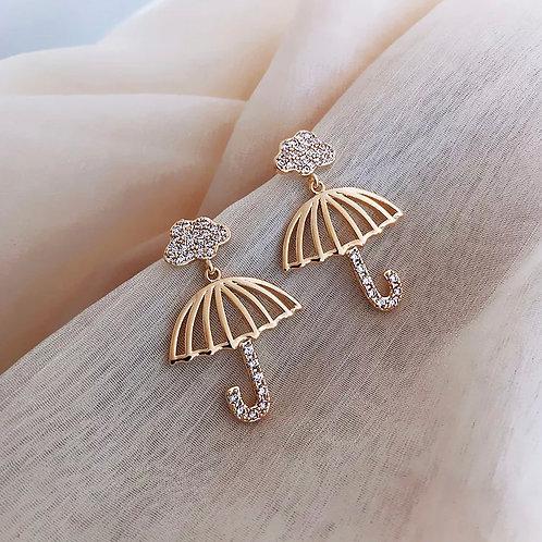 Cloud Umbrella Earring
