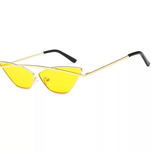 Yellow Cat Eyes Sunglasses