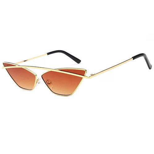 Brown Cat Eyes Sunglasses