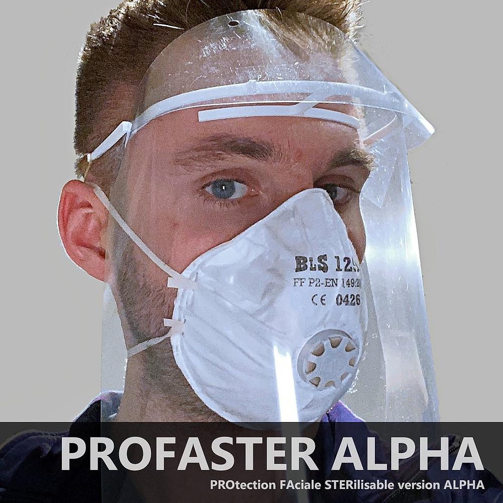 Visière PROFASTER ALPHA impression 3D printing FDM final prototype