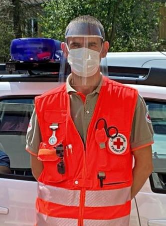 Livraison visières PROFASTER Covid-19 Croix Rouge