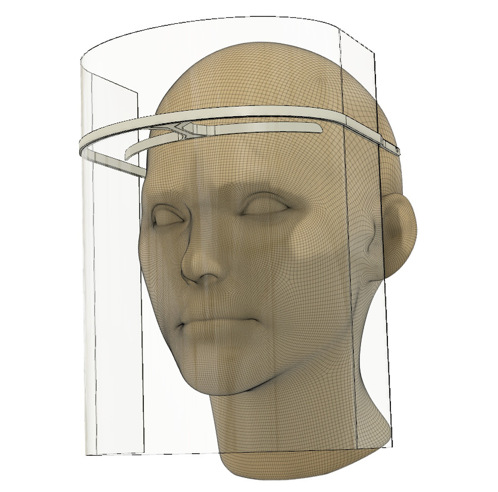 innovative patent pending face shield design