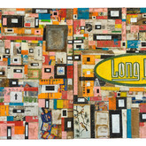 """Johnson City 2009 Acrylic and Collage on Panel. 48"""" x 96"""" x 4"""""""