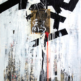 "John Chang ""Embrace the Chaos"" 1 Size: 36"" x 60"" Mixed Media 2009-2010"