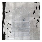 """An Array of Plausible Perspectives: #9 Sceenprint, letterpress, carbon transfer, collage, graphite 30"""" H x 28"""" W 2007"""