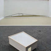 """Lift Your Walls (Installation Model), 2012 Height: 5"""" Glass, House Paint on Wood"""