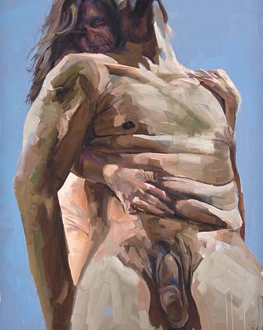 Brace 2008 oil on canvas 84 x 60 inche.j