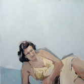 "Sunbathing; yellow, 30x40"", Oil on Canvas, 2009"