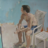 "Poolside, 18x24"", Oil on Canvas, 2009"