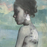 "Evado Oil on panel.  20"" x 48"" 2009"