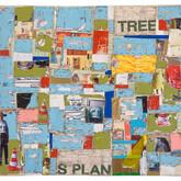 """Jumble 2009 Acrylic and Collage on Panel 24"""" x 24"""" x 2"""""""