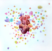 """Sweethearts Watercolors on paper 23"""" x 32"""""""