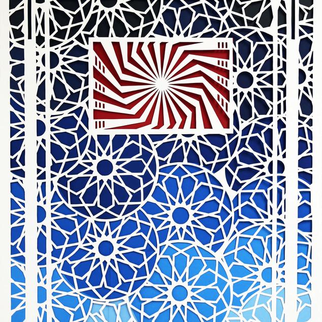 """2D Design, Project: Shape, Space, Line, Balance  Cut Paper 18"""" x 24"""""""
