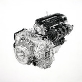 """Volt Two, graphite on paper, 11""""x11"""", 2011"""